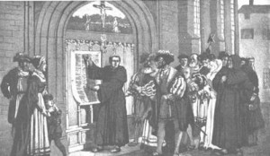 Luther Nailing 95 Theses