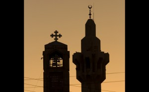 bell tower and minaret