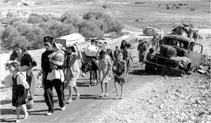 Palestinian refugees after Israel's 1948 Declaration of Independence.