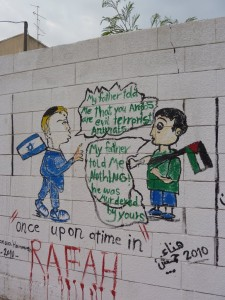 grafiti of gaza dialogue