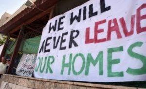 we will never leave our homes